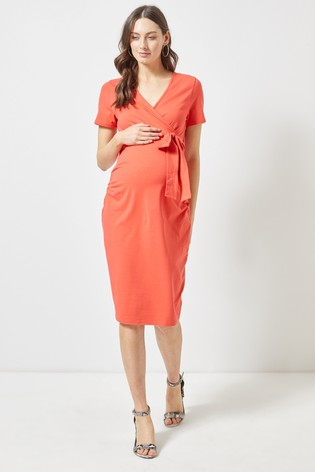 3d130cd843d5c Buy Dorothy Perkins Maternity Ruched Wrap Dress from the Next UK ...