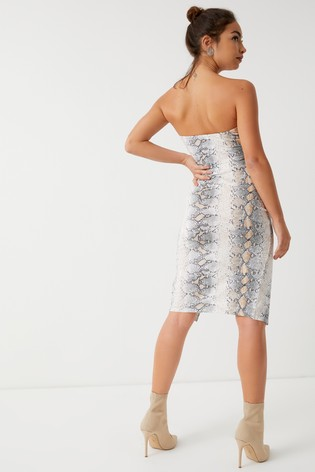 4deb4da047 Buy Boohoo Petite Snake Print Midi Skirt Co-ord from the Next UK ...