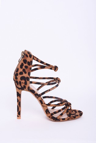 Buy Strappy Cyprus Heels Leopard Glamorous Print From Next htQrds