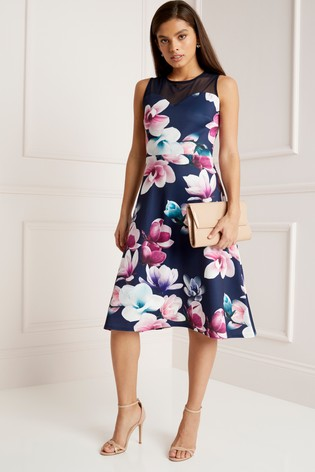 Floral Scuba Dress