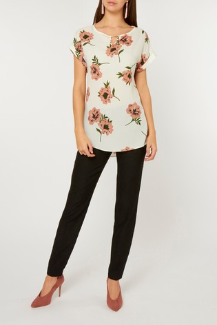 5f8fe4974975 Buy Dorothy Perkins Floral Bar Trim Top from the Next UK online shop