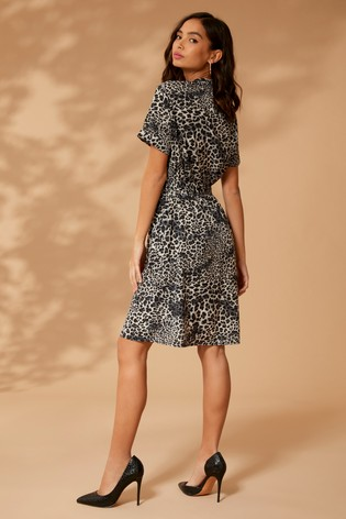 Buy Yumi Leopard Print Shirt Midi Dress from the Next UK online shop 7ecd60475