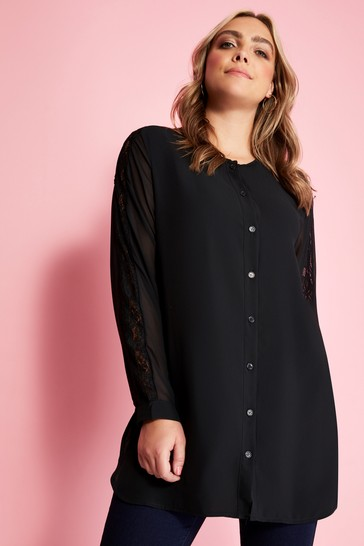 9ce4ac781c9 Mela London Curve Button Down Blouse