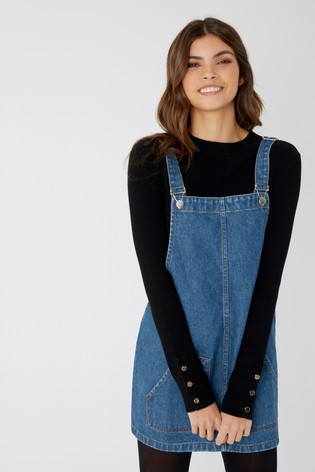 enjoy complimentary shipping exclusive range big sale Boohoo Denim Pinafore Dress