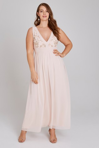 8db412d6344 Buy Little Mistress Curve Embroidery Maxi Dress from Next Ireland