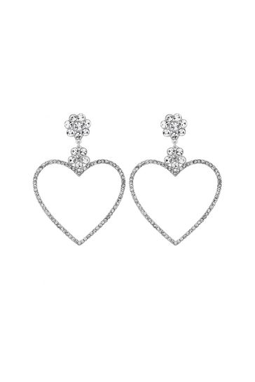 90e85ac3a27c1 Lipsy Front Facing Flat Heart Hoop Earrings