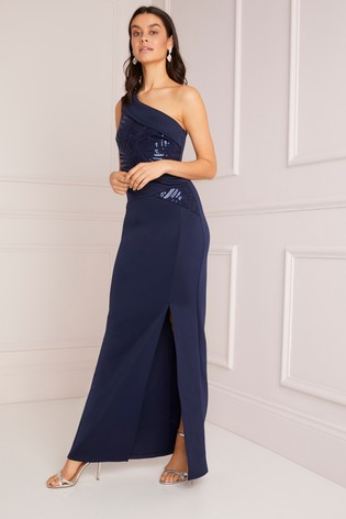 97a26368 Buy Lipsy Sequin One Shoulder Maxi Dress from Next Ireland