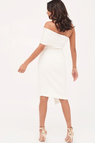 941bf1761f7 Buy Lavish Alice Button Detail Cut Out Off Shoulder Midi Dress from ...
