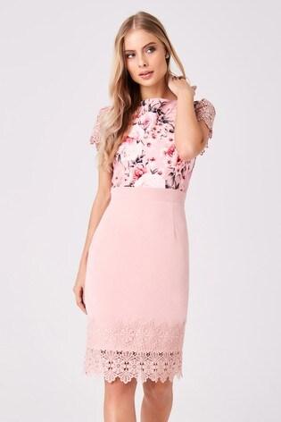 nieuwe high outlet boetiek prachtige stijl Paper Dolls Floral Print Dress