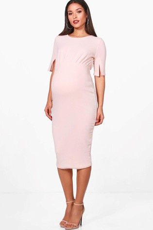 3a119bd4316c7 Buy Boohoo Maternity Split Sleeve Wiggle Dress from the Next UK ...