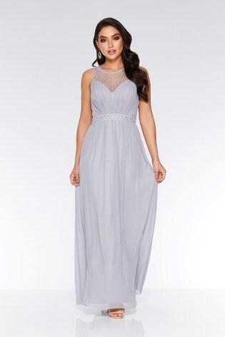 3b2a12031020 Buy Quiz Chiffon Embellished High Neck Maxi Dress from the Next UK ...