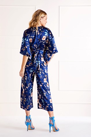 Buy Mela London Floral Print Kimono Sleeve Jumpsuit From Next