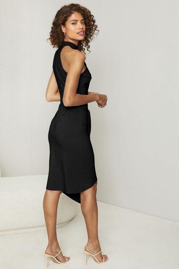 e728063f23 Buy Lipsy Halter Neck Asymmetric Bodycon Dress from the Next UK ...