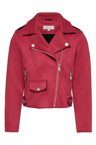 ae6ab657d888 Buy Kids Only Faux Suede Bonded Biker Jacket from the Next UK online ...