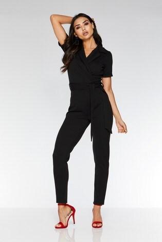 ccf17bce13 Buy Quiz Lapel Tie Belt Tapered Leg Jumpsuit from the Next UK online ...