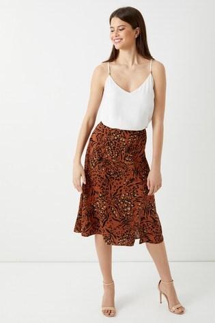 f6a8b1a1dc Buy Dorothy Perkins Petite Leopard Split Side Skirt from Next Ireland