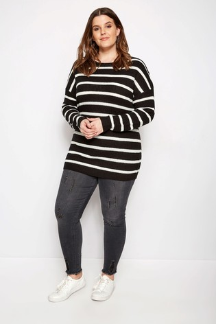 88b3056072 Buy Yours Stripe Lace Up Back Jumper from the Next UK online shop