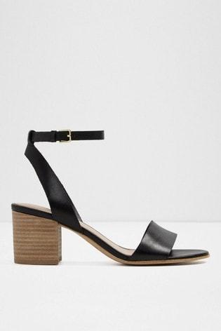 55075eec375 Aldo Two-Piece Leather Block Heel Sandals