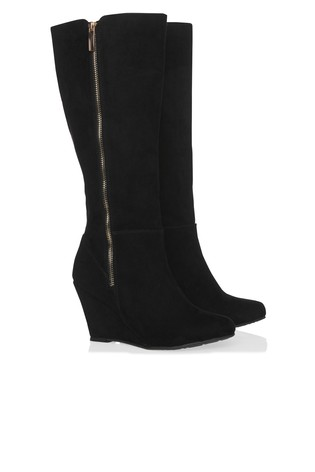 large assortment online retailer latest Lipsy Wedge Knee High Boots