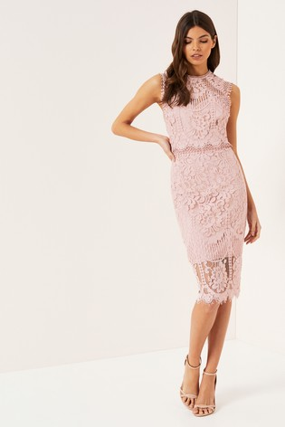 2f5a18f2b9a42 Lipsy VIP Lace Midi Dress