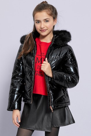 website for discount well known 2018 sneakers Lipsy Girl Shower Resistant High Shine Padded Jacket