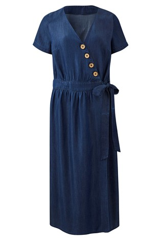 af8328366068dc Buy Simply Be Tencel Wrap Maxi Dress from the Next UK online shop