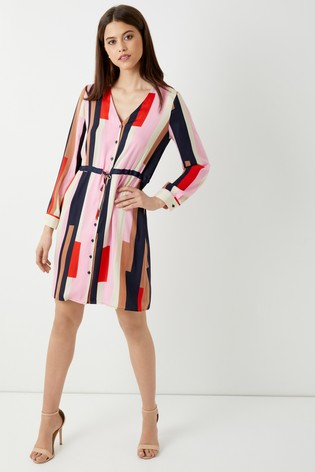 Buy Vero Moda Petite Long Sleeve Shirt Dress from Next Ireland 03929890dc