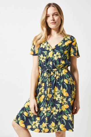 2e78c89757 Buy Dorothy Perkins Floral Button Front Skater Dress from the Next ...