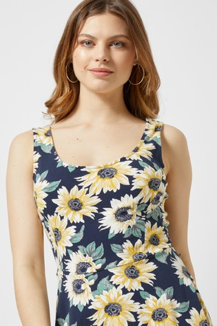 9377acee06be Buy Dorothy Perkins Sunflower Print Seamed Fit And Flare Dress from ...