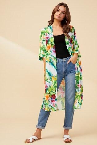 8913e7996222 Buy Boohoo Tropical Print Kimono from the Next UK online shop