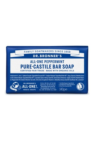 Dr  Bronner's Organic Peppermint Soap Bar 140g