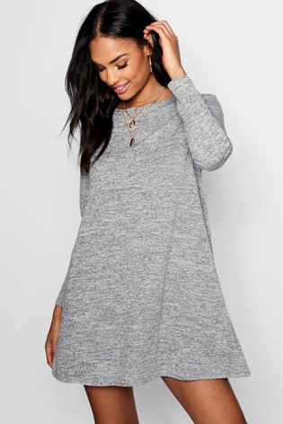 50a9f690e1 Buy Boohoo Knitted Swing Dress from the Next UK online shop