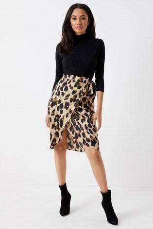 30af2e52e3 Buy Boohoo Petite Satin Wrap Midi Skirt from Next Ireland