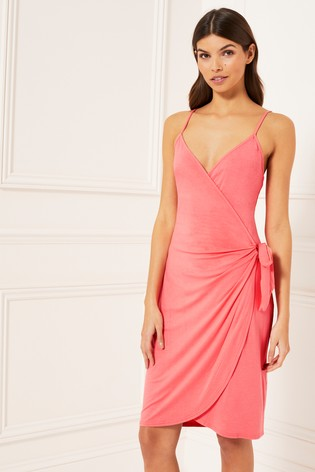 52439b982d4c3 Buy Lipsy Strappy Wrap Dress from the Next UK online shop