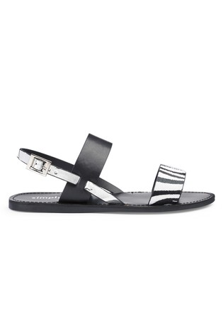 4ecdefafdf28 Buy Simply Be Extra Wide Fit 2 Strap Flat Sandals from the Next UK ...