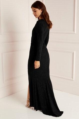 Buy Abbey Clancy X Lipsy Tall Glitter Wrap Maxi Dress From Next Ireland