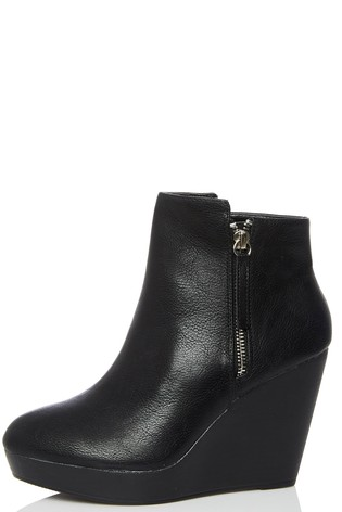 a41486e863041 Buy Quiz Side Zip Wedge Ankle Boots from the Next UK online shop
