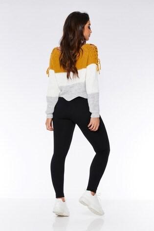 3313d906dd7be2 Buy Quiz Fleece Lined Zip Detail Leggings from the Next UK online shop