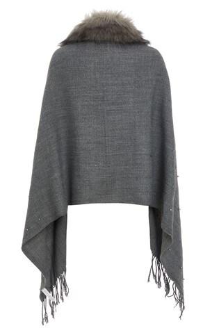 c8273658a0fc4 Buy Quiz Pearl Trim Faux Fur Collar Cape from the Next UK online shop