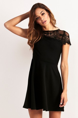 bf5978b7e811 Buy Lipsy Lace Top Skater Dress from the Next UK online shop