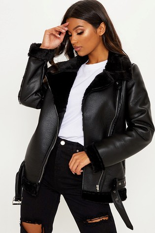 in stock enjoy cheap price unequal in performance PrettyLittleThing Aviator Jacket