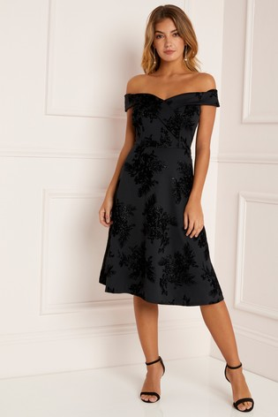 bed2fcab9e1 Buy Lipsy Floral Bardot Skater Dress from the Next UK online shop