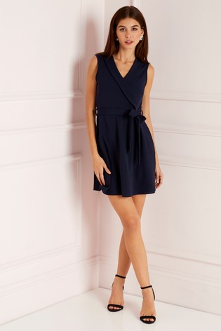 Buy Lipsy Petite Collar Wrap Skater Dress from the Next UK online shop 5a5bffed3