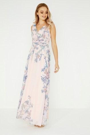 ... Zavinovacie maxi šaty Little Mistress s kvetovanou potlačou ... 0154c5b55cf