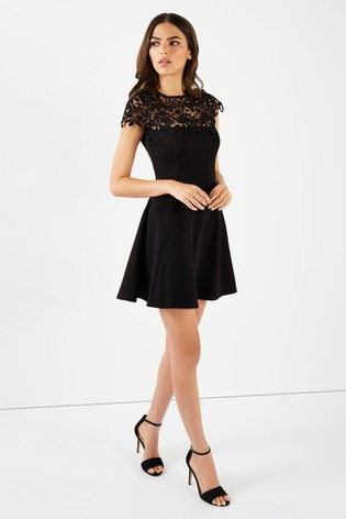 8ce7a5a83a Buy Lipsy Lace Top Skater Dress from the Next UK online shop