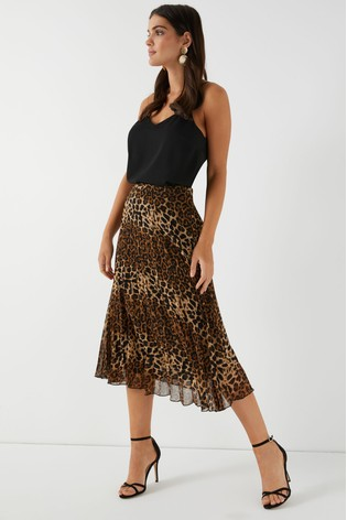 b557e8deb3ed Buy Glamorous Animal Print High Waisted Midi Skirt from the Next UK ...