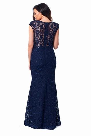 a163dd8871 Buy Sistaglam Loves Jessica Petite Eliora Sequin Lace Maxi Dress ...