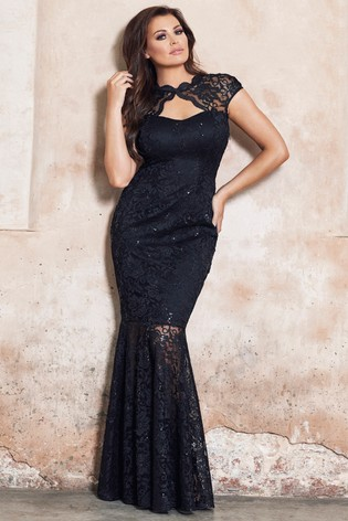 3abf4a73ba Buy Sistaglam Loves Jessica Petite Keyhole Sequin Lace Maxi Dress ...