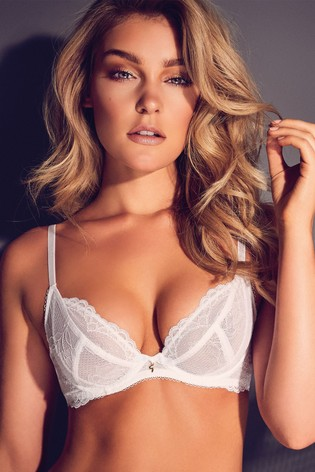 e68eff5a9807cc Buy Gossard Superboost Lace Non Padded Plunge Bra DD+ from the Next ...