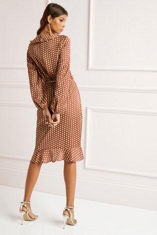 fe18c50d6abe Buy Lipsy Polka Dot Frill Wrap Dress from Next Slovakia